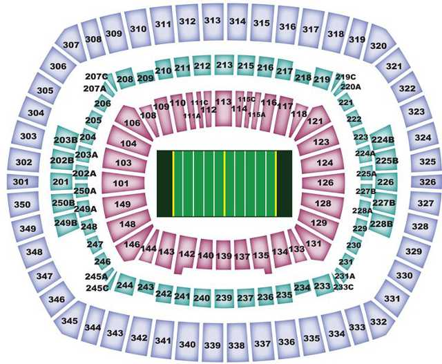 New York Giants Seating Chart for MetLife Stadium